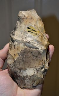 "A large and pleasant Paleolithic ""Acheulian"" flint hand axe from Trilport, France. (F1) SOLD"